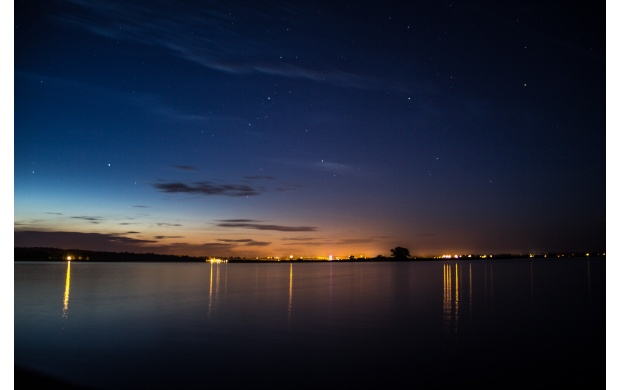 Night Sky Over A Lake (click to view)