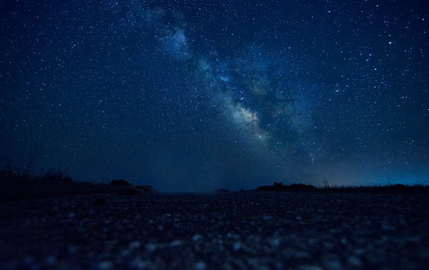 Night Stars Horizon (click to view)