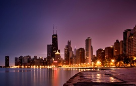 North Avenue Beach Sunrise Chicago
