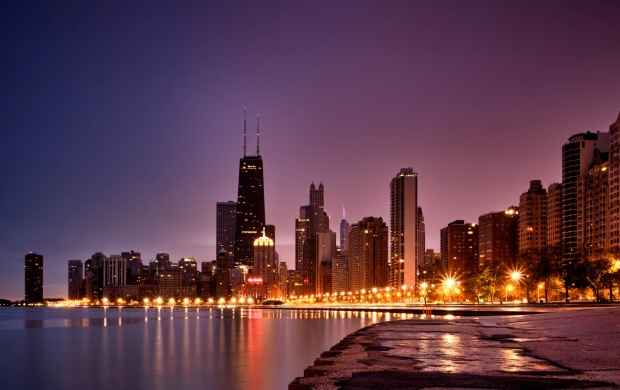 North Avenue Beach Sunrise Chicago (click to view)
