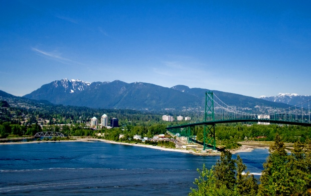 North Vancouver And Lions Gate Bridge (click to view)