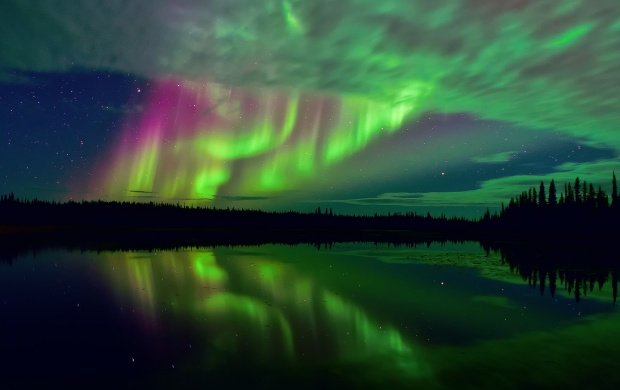 Northern Lights And Stars (click to view)