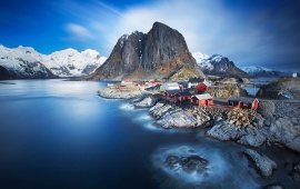 Norway Lofoten Islands Mountain Sea