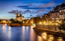 Notre Dame De Paris Night Cities