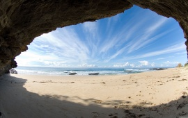 Ocean Beach Seen From Cave