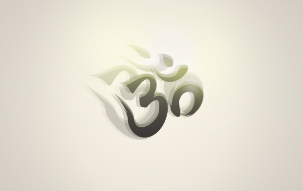 Om And White Background Wallpapers