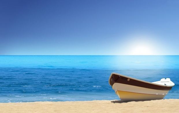 One Boat on the Beach (click to view)
