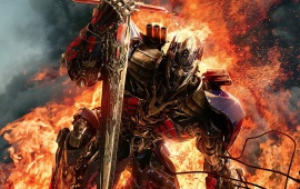 Optimus Prime With Sword Transformers 2014
