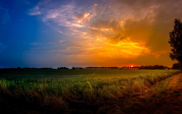 Orange And Blue Sunset (click to view)