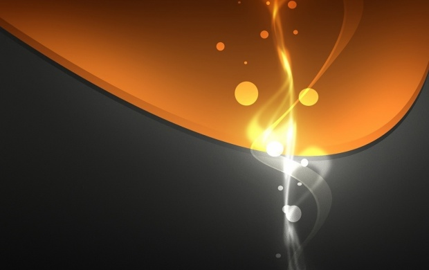 Orange And Gray Circles Abstract (click to view)