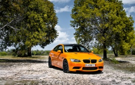 Orange BMW M3 Car