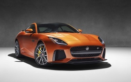 Orange Jaguar F-Type SVR 2017