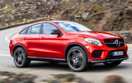 Orange Mercedes-Benz GLE 450 Coupe 2015