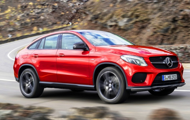 Orange Mercedes-Benz GLE 450 Coupe 2015 (click to view)