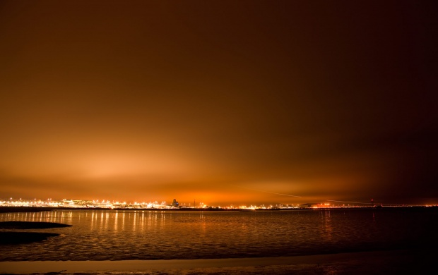 Orange Night Skyline (click to view)