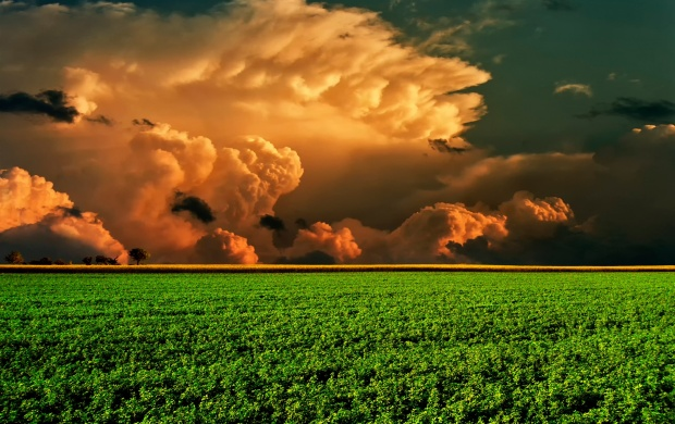 Orange Storm Clouds (click to view)