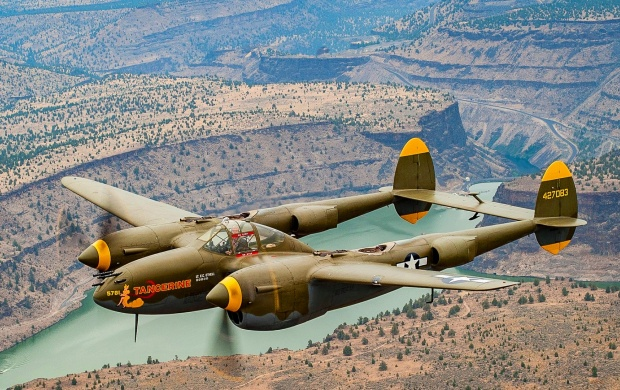 P-38 Lightning Fighter Flight (click to view)