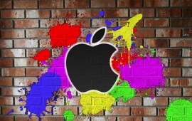 Painted On The Wall Of The Apple Color