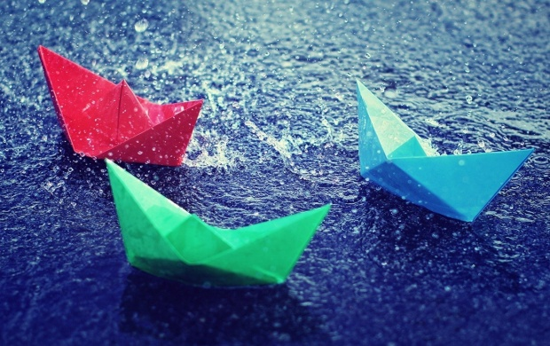 Paper Boats In Rain (click to view)