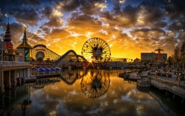 Paradise Pier Sunset California