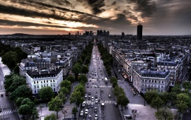 Paris At Dusk