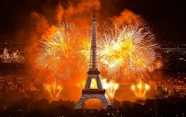 Paris Eiffel Tower Fireworks
