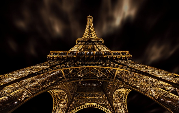 Paris Eiffel Tower Night Click To View