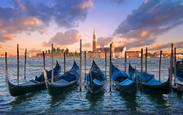 Parked Gondolas in Venice (click to view)