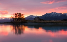 Peaceful Lake Sunset