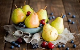 Pears And Blackberries
