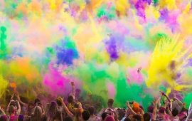 People Celebrate Holi