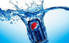 Pepsi Can In Water