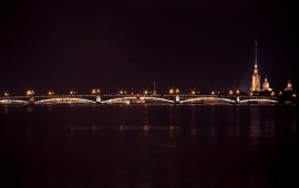 Peter Neva Castle Bridge Night Lights