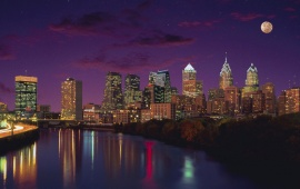 Philadelphia City Night Lights