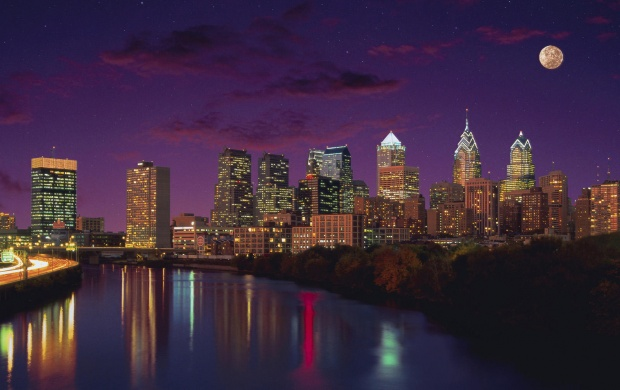 Philadelphia City Night Lights (click to view)