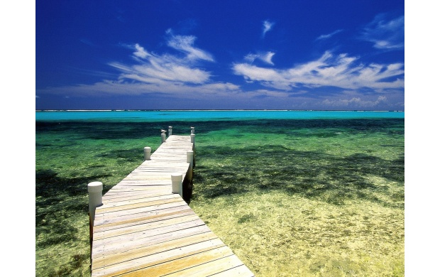 Pier Into The Azure Water (click to view)