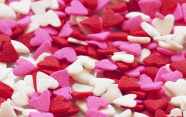 Pink and Red Heart Shaped Candy