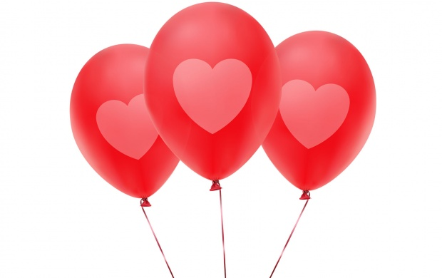 Pink Balloons With Heart (click to view)