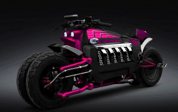Pink Dodge Tomahawk Bike (click to view)
