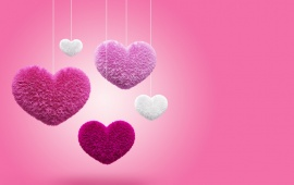Pink Fluffy Hearts