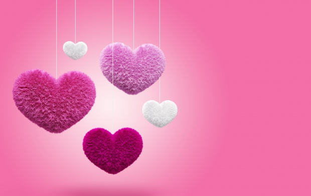 Pink Fluffy Hearts (click to view)