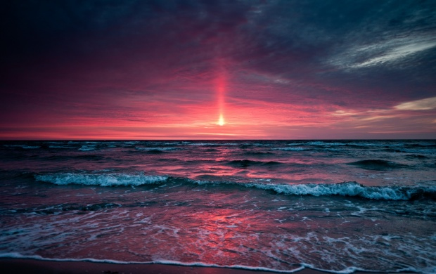 Pinkish Sunset (click to view)