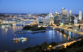 Pittsburgh At Twilight