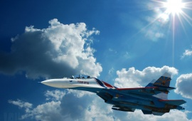 Planes Fighters Sukhoi Su-27 Aviation