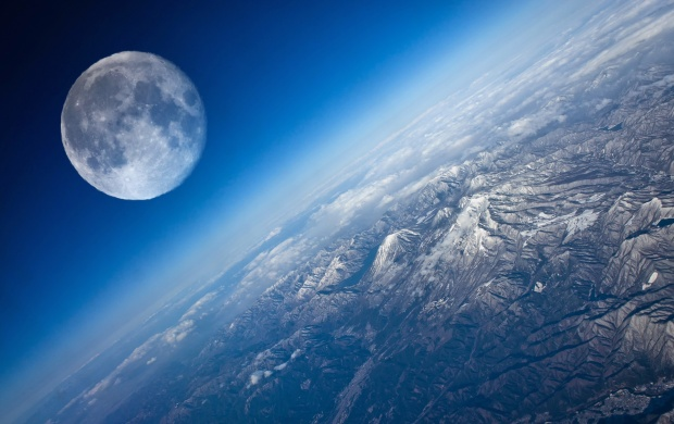 Planet Earth Satellite Moon (click to view)
