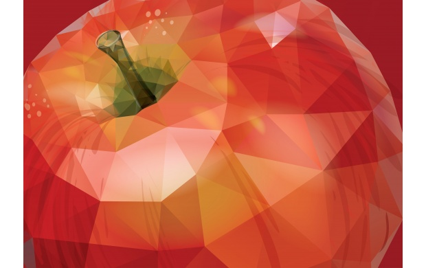 Polygonal Red Apple (click to view)