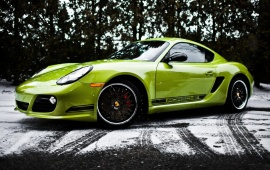 Porsche Cayman R With Snow Tires