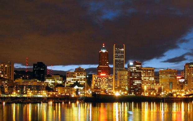 Portland At Night (click to view)