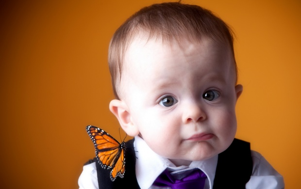 Portrait Boy On Butterfly (click to view)