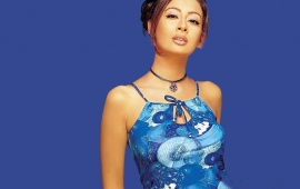 Preeti Jhangiani In Blue Dress